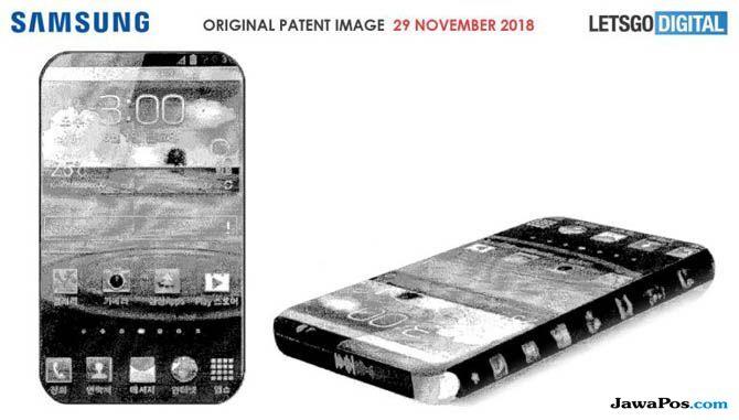 Samsung Paten Bezel-Less, Samsung tanpa bingkai, Samsung smartphone bezel-less