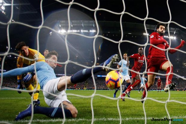 Premier league 2018-2019, Liga Inggris, Manchester City, Liverpool, Manchester City 2-1 Liverpool