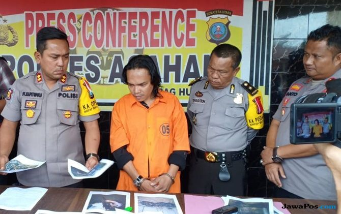 Luhut Ditangkap Polres Asahan Setelah Bakar Rumah, Warung dan 4 Mobil