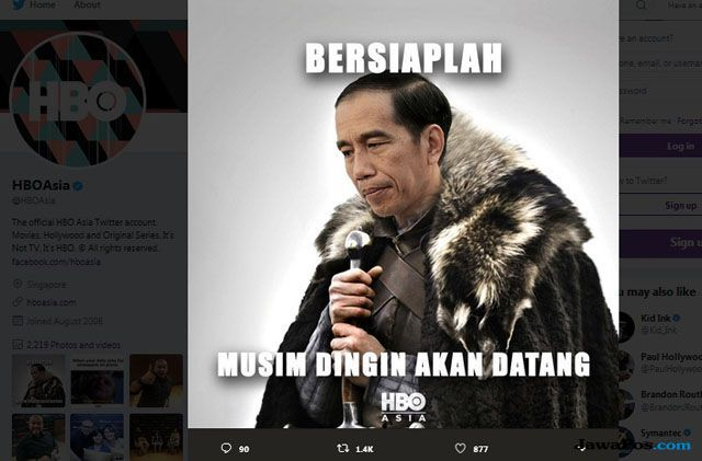 Meme Jokowi Game of Thrones Jadi Trending Topik di Twitter