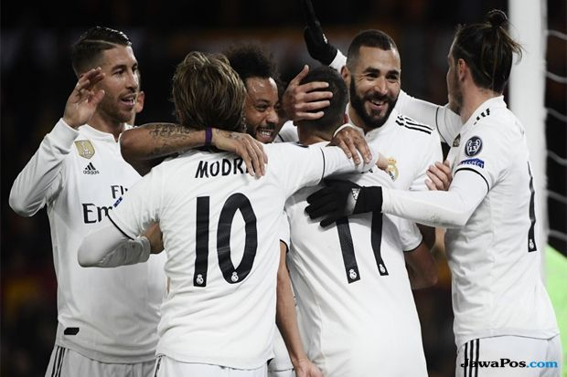 Liga Champions 2018-2019, AS Roma, Real Madrid, Roma kalah, Madrid menang, AS Roma 0-2 Real Madrid