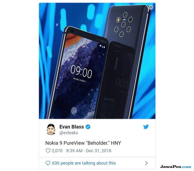 evan blass, Nokia 9 PureView, Nokia 9 Lima Kamera