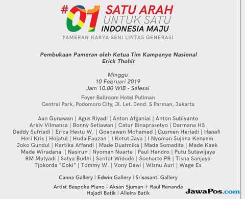 Para Seniman Top Deklarasi Dukung Jokowi-Ma'ruf, Gelar Lelang Lukisan