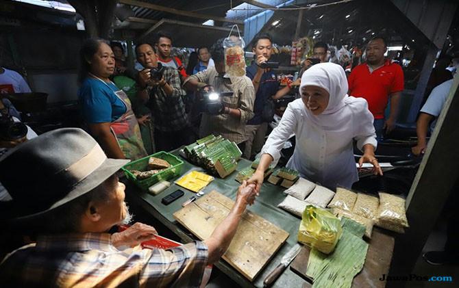 Pedagang Pasar Blitar Beri Dukungan: Khofifah Pilihan Tepat