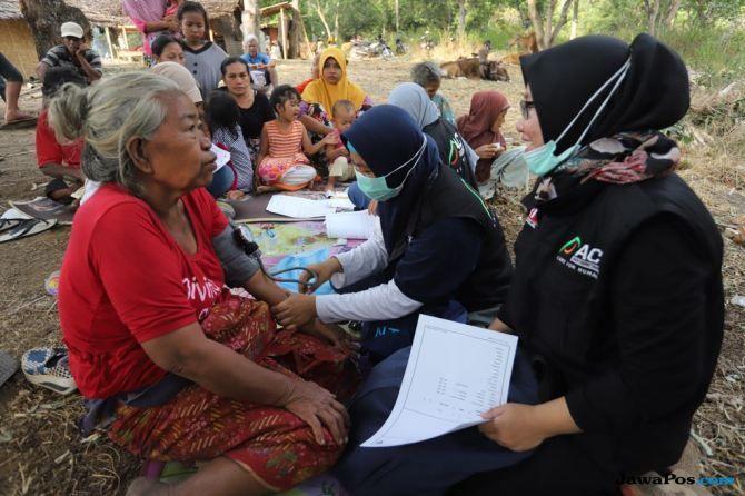 Perjalanan Tim Medis ACT Susuri Desa-Desa Terdampak Gempa Lombok