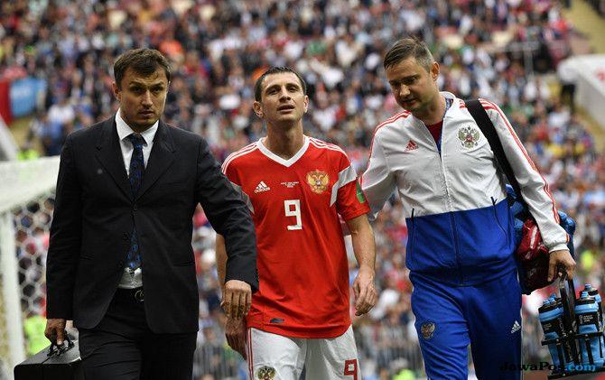 Timnas Rusia, Timnas Arab Saudi, Piala Dunia 2018, Hasil Babak Pertama