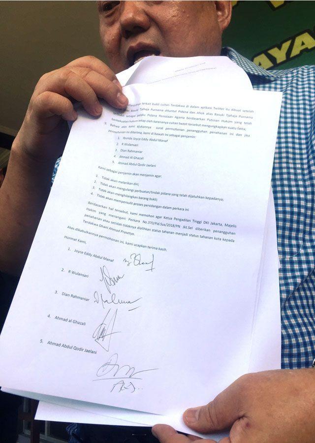 Respons PT DKI atas Keberatan Penahanan Ahmad Dhani