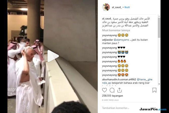 Salah Ambil Video, Gubernur Makkah Dikira Mantan Paus Mualaf