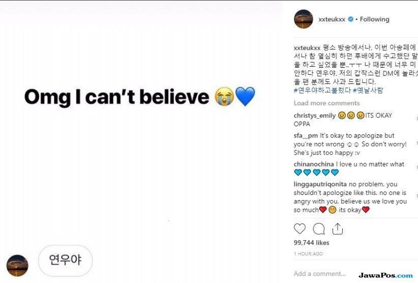 Salah Paham, Leeteuk Super Junior Kirim DM di Instagram dan Minta Maaf