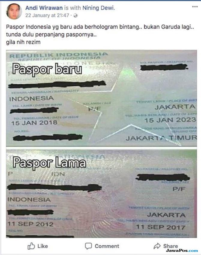 paspor, hoax paspor, hoax bintang,