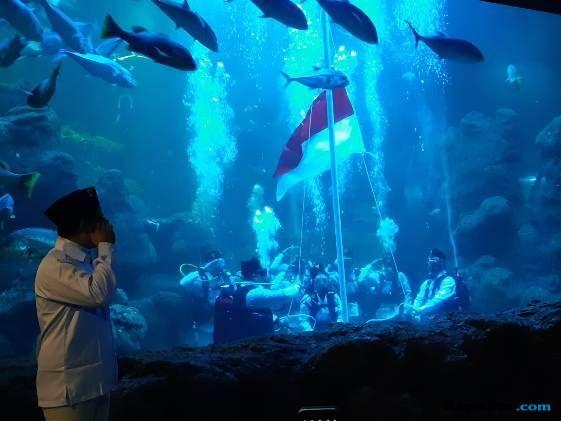 Seaworld Ancol Akan Adakan Pengibaran Bendera Merah Putih di Dalam Air