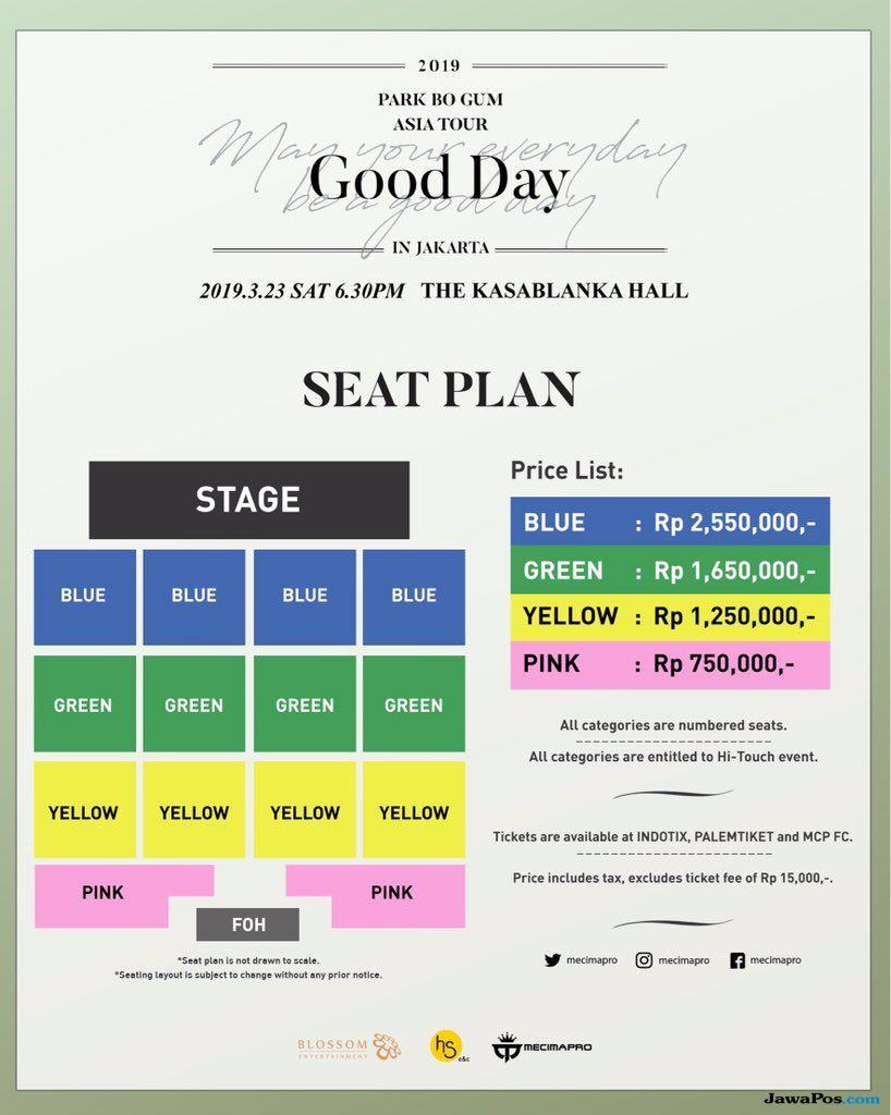 Segini Harga Tiket Fan Meeting Park Bo Gum! Ada Hi Touch-nya Lho!