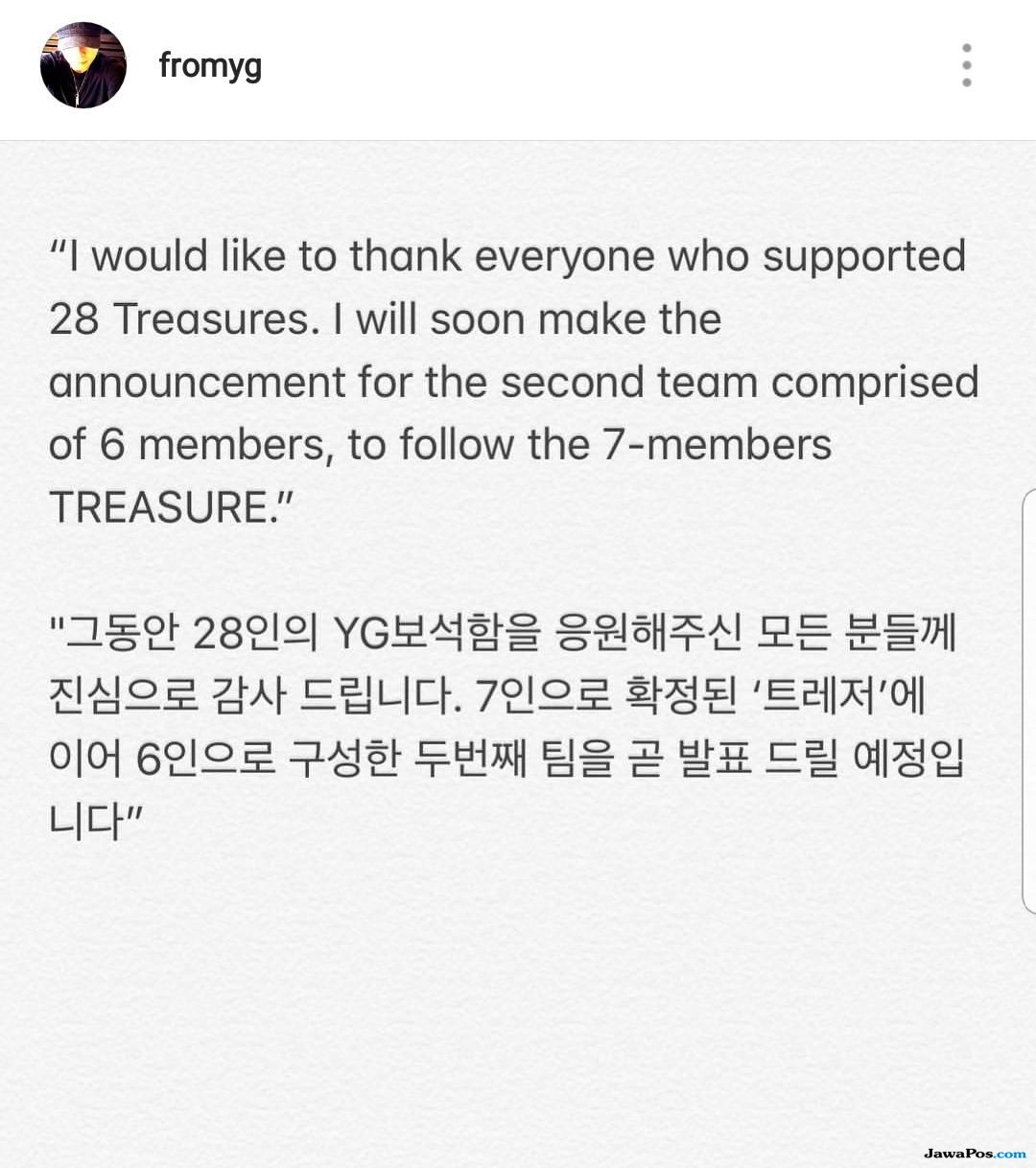 Selain TREASURE, YG Entertainment Akan Debutkan Grup Baru Lainnya