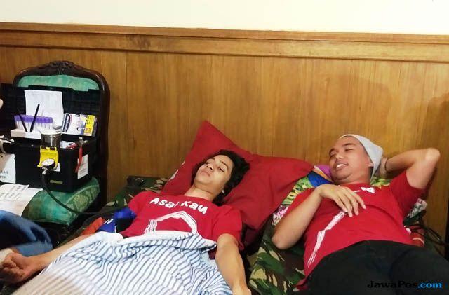 Sempat Tak Berani, Dewa Dayana Akhirnya Berani Donor Darah