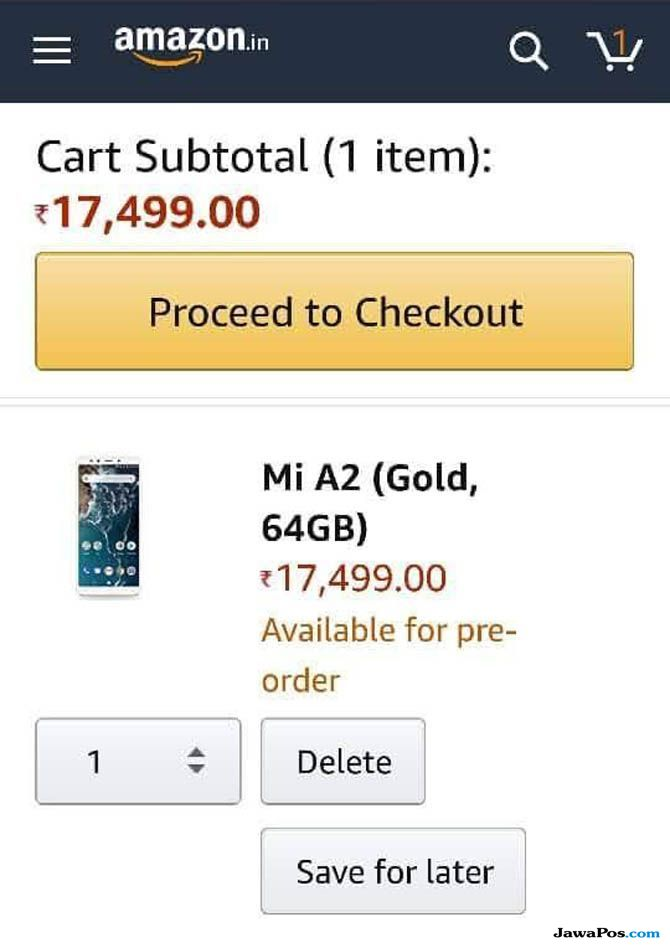 Xiaomi Mi A2, Mi A2 di India, Mi A2 di Indonesia