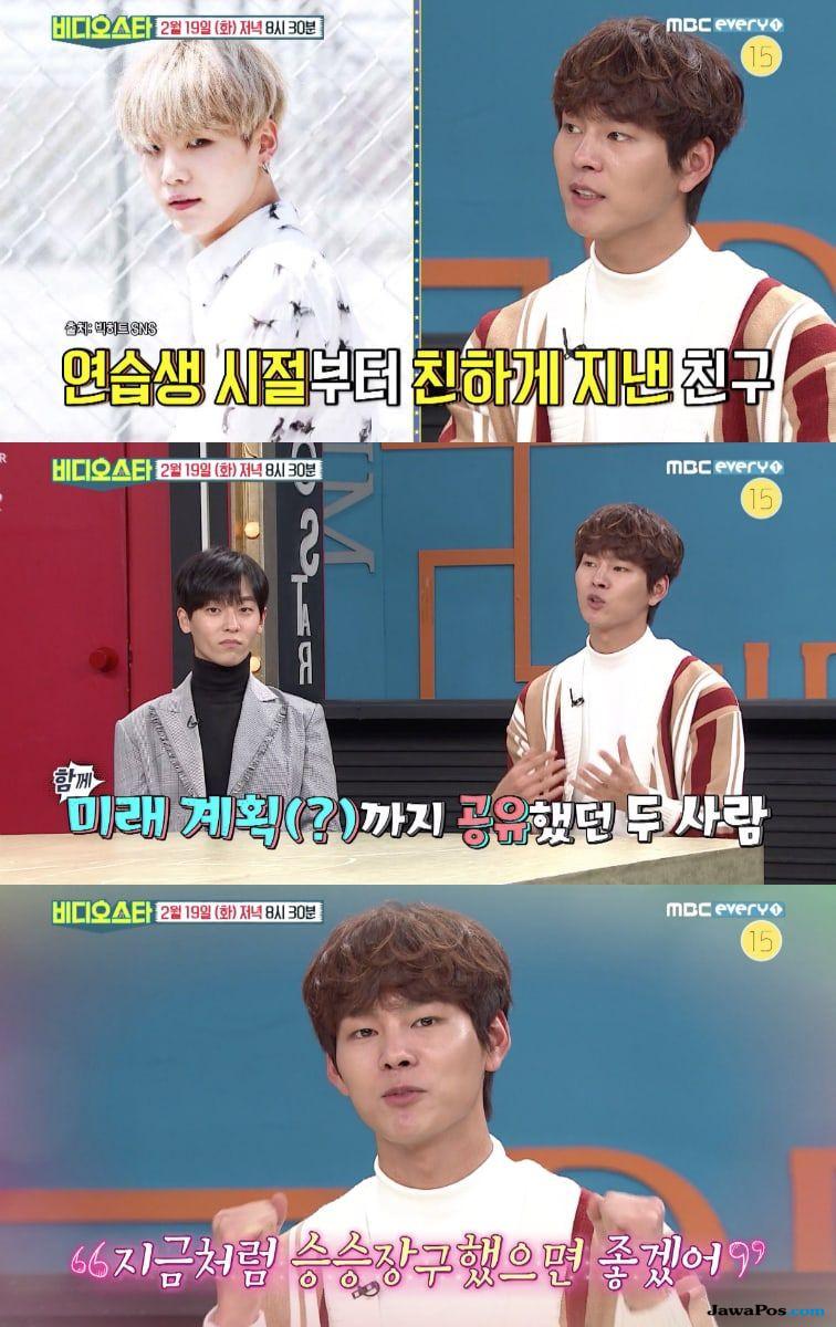 Suga BTS dan Park Sun Ho Pernah Janjikan Ini Jika Sudah Sukses