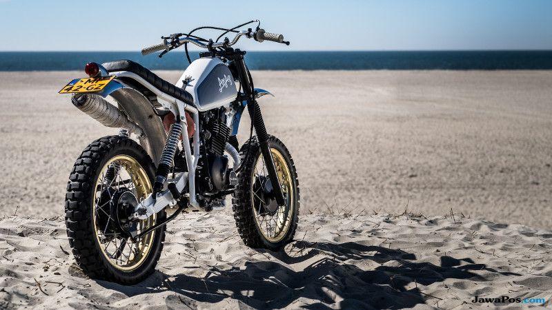 Tengok, Modifikasi Suzuki Tua Jadi Motor Camping Laut yang Manis