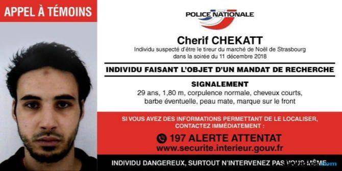 penembakan prancis, teroris prancis, Cherif Chekatt prancis