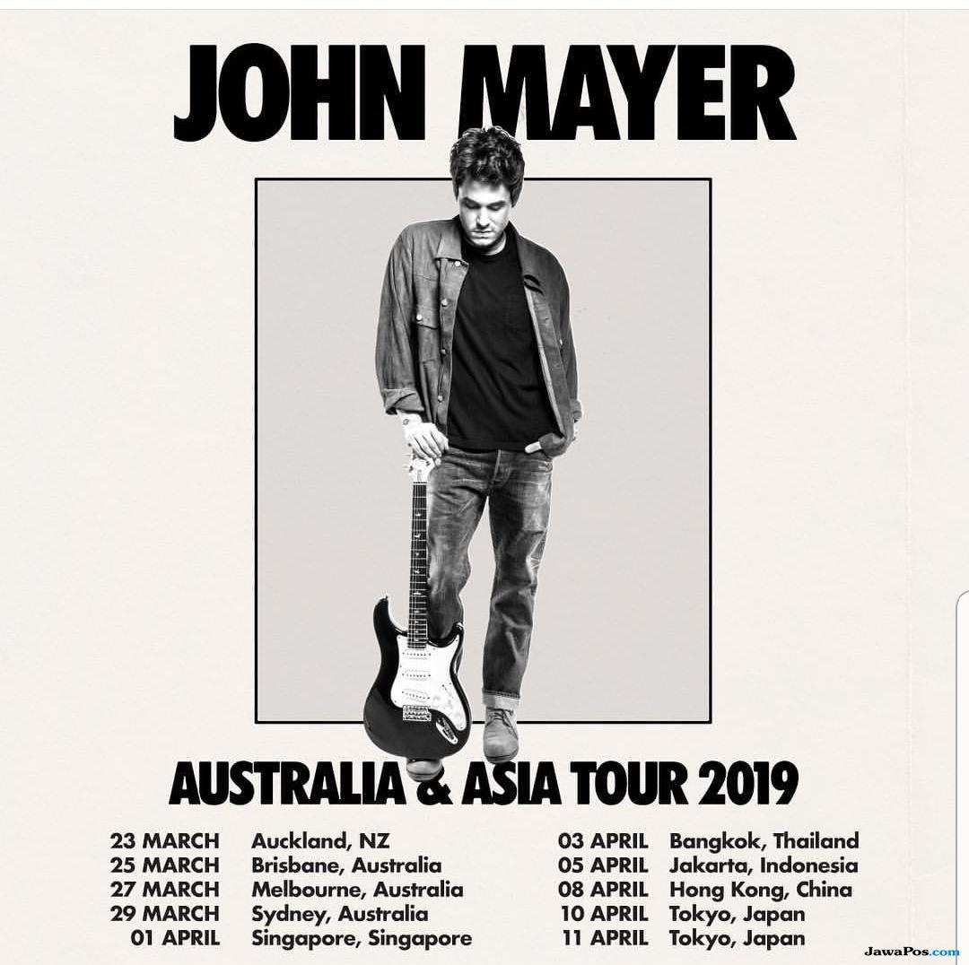 Tiket Konser John Mayer di Jakarta Ludes Terjual