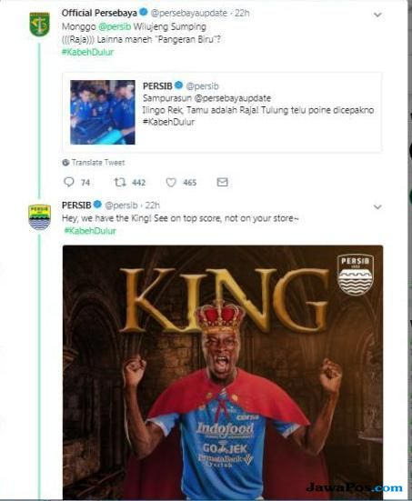 Persebaya Surabaya, Persib Bandung, Liga 1 2018, Twitter,