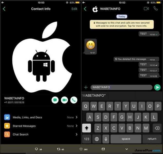 WhatsApp, WhatsApp Fitur Baru, WhatsApp Dark Mode